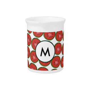 Monogram Pitcher Summer Colours Bright Geometric