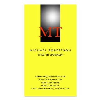 Monogram Plain Consultant Yellow Business Card