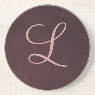 Monogram Plum Coaster