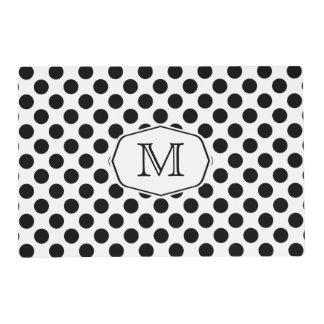 Monogram Polka Dot Laminated Place Mat