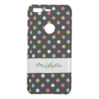 Monogram Polka Dot Pattern Uncommon Google Pixel Case