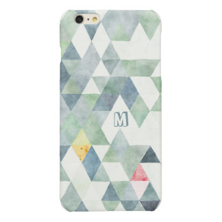 Monogram Polygon Triangles Multi-Teal Blue Pattern iPhone 6 Plus Case