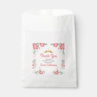 Monogram. Princess Party. Thank You. Favour Bags