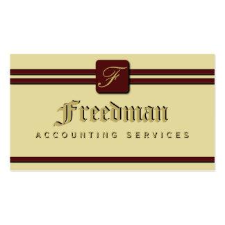 Monogram Professional Business Cards