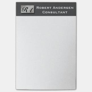 Monogram Professional Carbon Fiber Silver Post-it® Post-it Notes