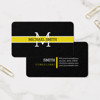 Monogram Professional Citrine Horizontal Line Business Card