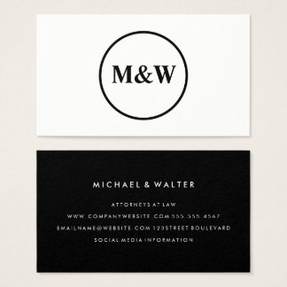 Monogram Professional Elegant Business Card