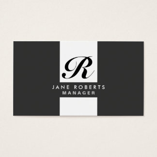 Monogram Professional Elegant Cosmetologist Makeup Business Card