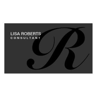 Monogram Professional Elegant Makeup Artist Business Card Template