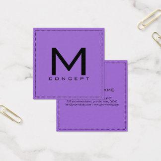 Monogram Professional Elegant Modern Amethyst Square Business Card