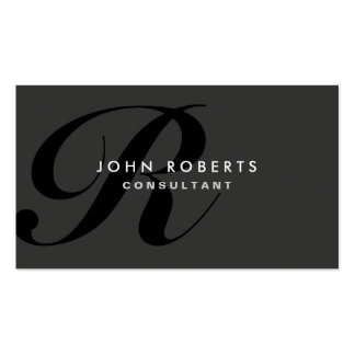 Monogram Professional Elegant Modern Black Pack Of Standard Business Cards