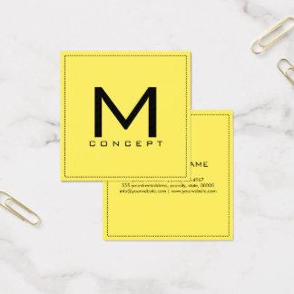 Monogram Professional Elegant Modern Corn Square Business Card