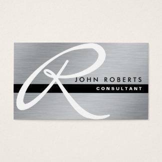 Monogram Professional Elegant Modern Silver Metal