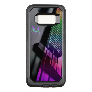 Monogram Psychedelic Bass Guitar Music OtterBox Commuter Samsung Galaxy S8 Case