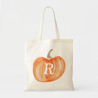 Monogram Pumpkin Tote Bag