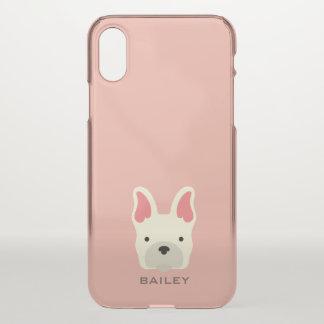 Monogram. Pups Rule! Cute Puppy Dog. iPhone X Case