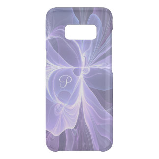 Monogram Purple Abstract Modern Fractal Uncommon Samsung Galaxy S8 Case