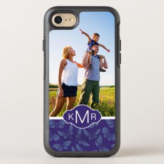 Monogram   Purple Butterflies OtterBox Symmetry iPhone 8/7 Case