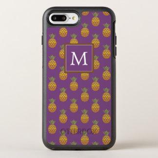 Monogram | Purple & Copper Pineapples OtterBox Symmetry iPhone 8 Plus/7 Plus Case