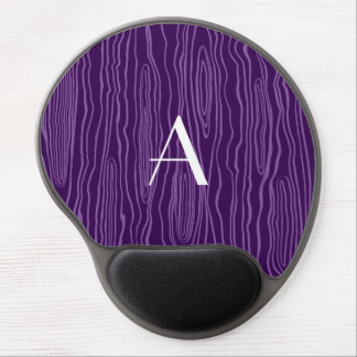 Monogram purple faux bois gel mouse pad