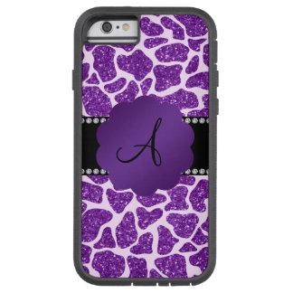 Monogram purple glitter giraffe print tough xtreme iPhone 6 case