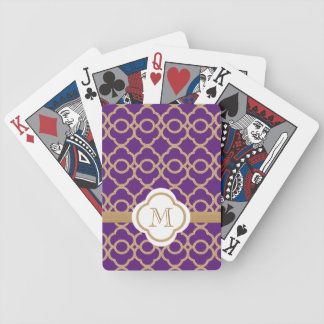Monogram Purple Gold Moroccan Bicycle Playing Cards
