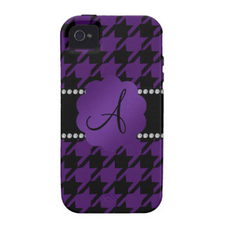 Monogram purple houndstooth iPhone 4/4S cases