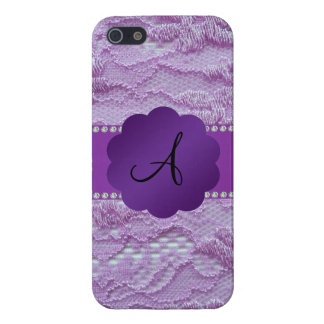 Monogram purple lace cases for iPhone 5