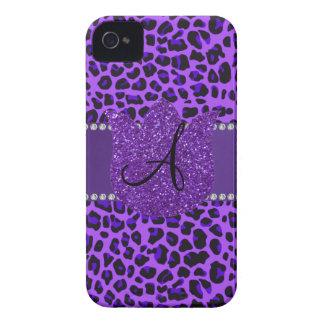 Monogram purple leopard iPhone 4 cases