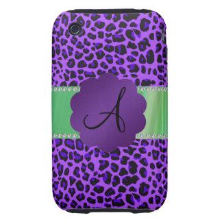 Monogram purple leopard tough iPhone 3 cover