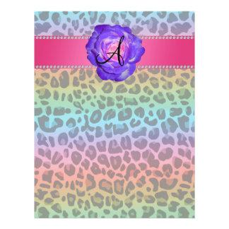 Monogram purple leopard purple rose 21.5 cm x 28 cm flyer