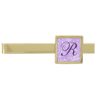 Monogram Purple Ornamental Tie Bar