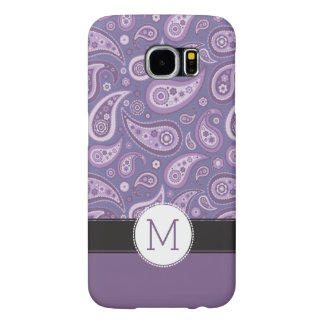 Monogram Purple Paisley Retro Pattern Samsung Galaxy S6 Cases