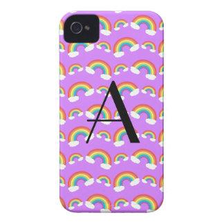 Monogram purple rainbows pattern Case-Mate blackberry case