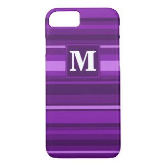 Monogram purple stripes iPhone 8/7 case