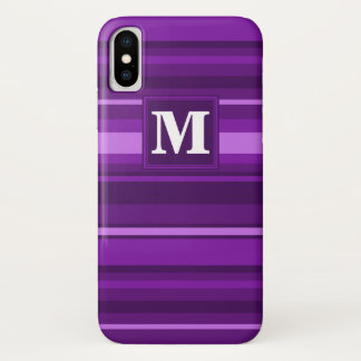 Monogram purple stripes iPhone x case