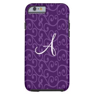 Monogram purple swirls tough iPhone 6 case
