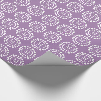 Monogram Purple Wrapping Paper