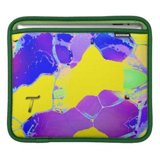 Monogram Purple Yellow horizontal iPad Sleeve