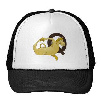 Monogram Q Funny Pony Personalized Trucker Hat