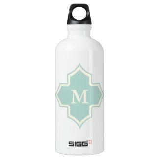 Monogram Quatrefoil Mint Frame SIGG Traveller 0.6L Water Bottle