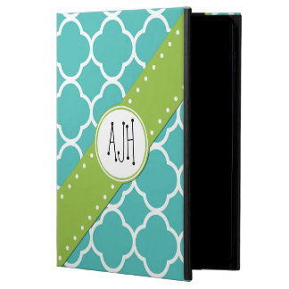 Monogram - Quatrefoil Shape - Blue White