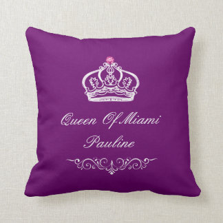 Monogram Queen Crown Cushion