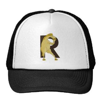 Monogram R Cartoon Pony Customized Trucker Hat