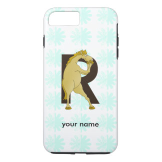 Monogram R Funny Pony Personalised iPhone 7 Plus Case