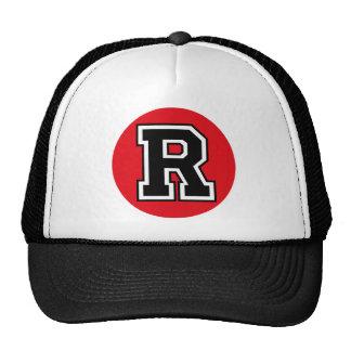 """Monogram """"R"""" Initial Mesh Hats"""