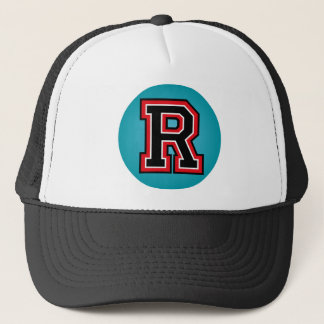 "Monogram ""R"" Initial Trucker Hat"