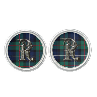Monogram R Robertson Plaid Cuff Links