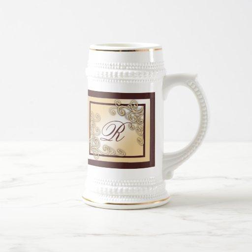 Monogram 'R' Stein Mug