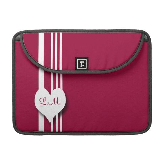 Monogram racing stripe rickshaw sleeve MacBook pro sleeve